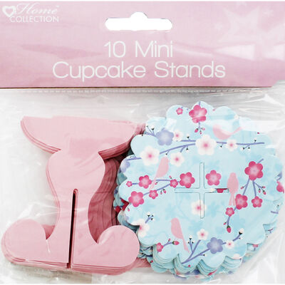 10 Mini Blossom Cupcake Stands image number 1
