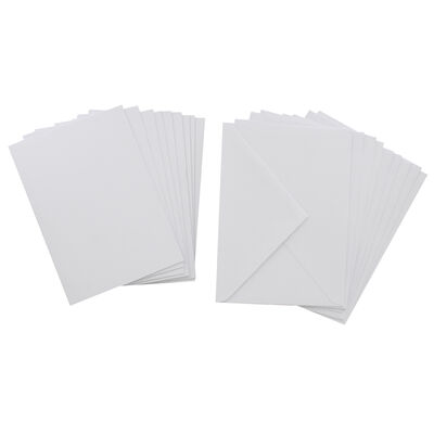 White Blank Cards and Envelopes - 5 x 7 Inches image number 2