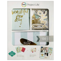 American Crafts: Project Life Gold Foil 130 Piece Card Kit