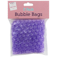 Purple Bubble Bags: Pack of 5