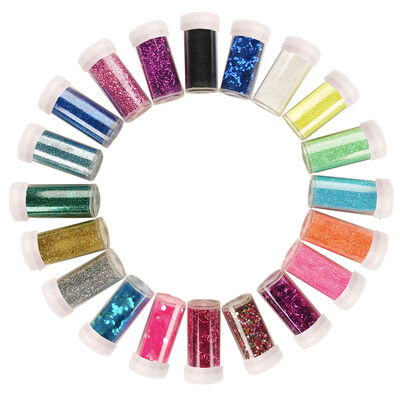 Assorted Glitter Shakers: Pack of 20 image number 2