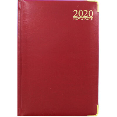 A5 Red Gold 2020 Day a Page Diary image number 1