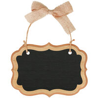 Rustic Wood Mini Hanging Chalkboard Sign