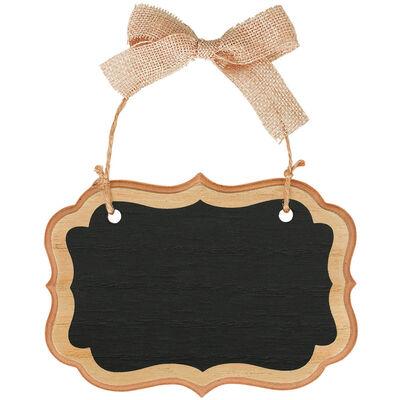 Rustic Wood Mini Hanging Chalkboard Sign image number 1