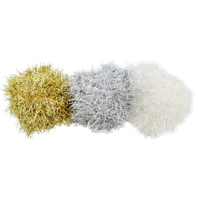 Tinsel Style Craft Yarn - 3 Pack image number 1