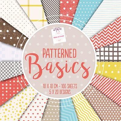Patterned Basics Design Pad: 10 x 10cm image number 1