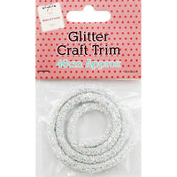 White Glitter Craft Trim 46cm