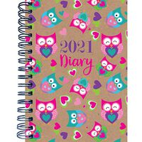 A6 Owl 2021 Week To View Diary