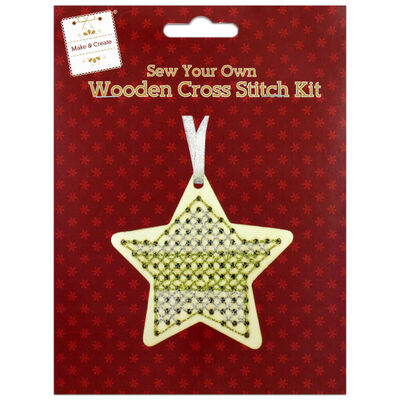 Sew Your Own Wooden Cross Stitch Kit: Star image number 1