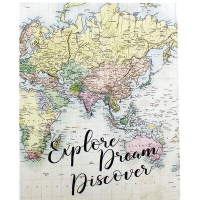 World Map Slip-In Photo Album image number 1