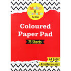A4 Coloured Paper Pad - 75 Sheets image number 1