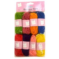 Assorted Knitting Yarn: Pack of 8