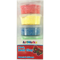 Assorted Bead Clay Tubs - Pack of 5