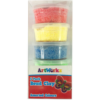 Assorted Bead Clay Tubs - Pack of 5 image number 1