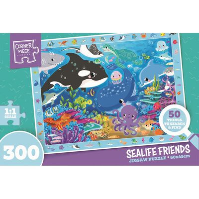 Sea Life Friends 300 Piece Jigsaw Puzzle image number 1