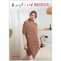 Hayfield Bonus DK: Women's Scarf Knitting Pattern 8208