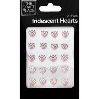 Iridescent Mini Hearts - 20 Pack