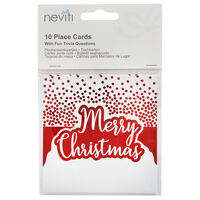 Red Foil Merry Christmas Place Cards - 10 Pack