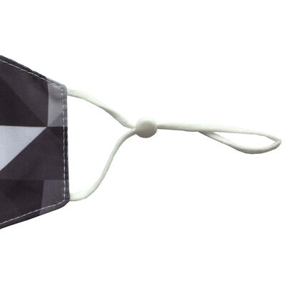 Geo Black & Grey Reusable Face Covering image number 2