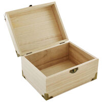 Wooden Box with Metal Corners