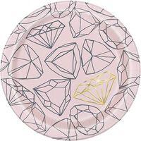 Hen Do Diamond Paper Plates - 7 inches