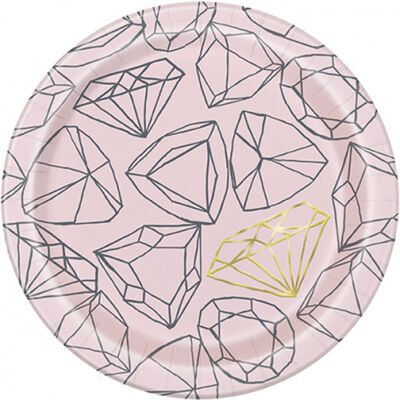 Hen Do Diamond Paper Plates - 7 inches image number 1
