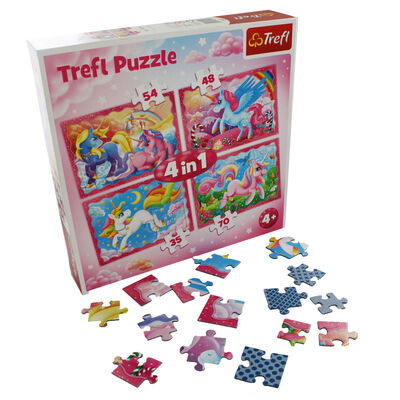 Unicorn 4-in-1 Jigsaw Puzzle Set image number 3