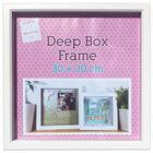 White Deep Box Frame - 30cm x 30cm image number 1