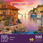 Marina View & Greengrocers 500 Piece Jigsaw Puzzle with Puzzle Rolling Mat Bundle image number 4