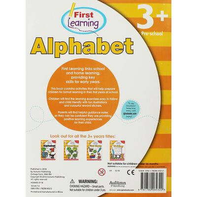 First Learning Alphabet Workbook: Pre-School image number 2