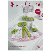 Hayfield Baby Blossom Chunky: Jacket and Hat  Knitting Pattern 5233