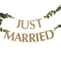 Just Married Kraft Bunting