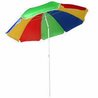 Multi Coloured Parasol With UV Protection