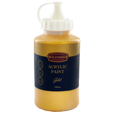 Gold 500ml Acrylic Paint image number 1