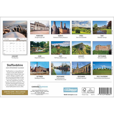 Staffordshire 2020 A4 Wall Calendar image number 2