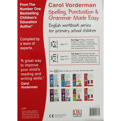 Carol Vorderman: Spelling, Punctuation & Grammar Made Easy: Age 10-11 image number 2