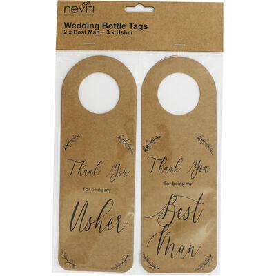 5 Kraft Wedding Bottle Tags image number 1