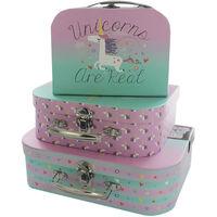 Unicorn Storage Suitcase: Set Of 3