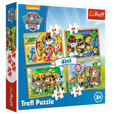 4 In 1 Paw Patrol Jigsaw Puzzle Set image number 1