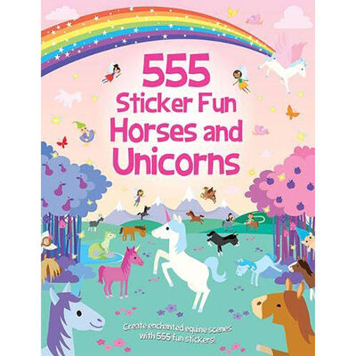 555 Sticker Fun: Horses and Unicorns image number 1