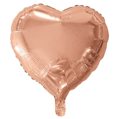 18 Inch Rose Gold Helium Heart Balloon Bundle image number 3