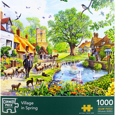 Village in Spring 1000 Piece Jigsaw Puzzle image number 2