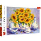 Sunflowers 500 Piece Jigsaw Puzzle image number 1