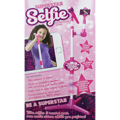 Superstar Selfie Microphone Stand image number 2
