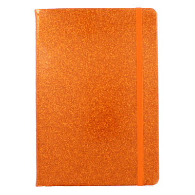 A5 Orange Glitter Cased Lined Journal image number 2
