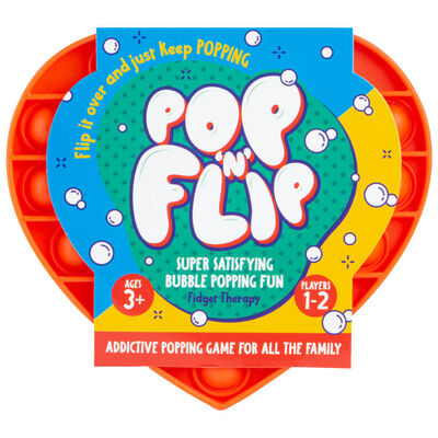 Pop 'N' Flip Bubble Popping Fidget Game: Assorted Heart image number 1