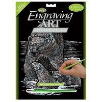 Engraving Art: Polar Bear