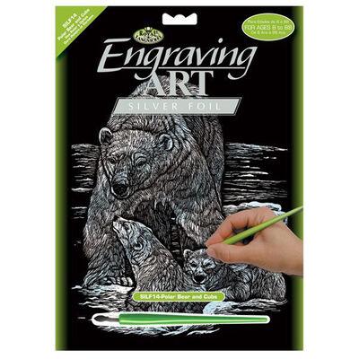 Engraving Art: Polar Bear image number 1