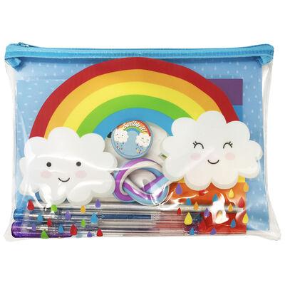 Blue Rainbow Bumper Stationery Set image number 1