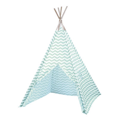 Blue Zigzag Teepee Tent image number 1